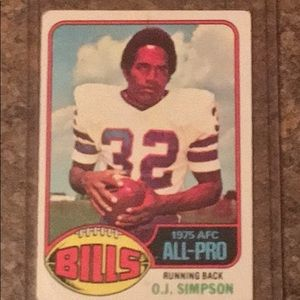 Vintage O.J. Simpson Collectible Football Card